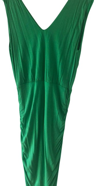 Item - Green And Base Mid-length Short Casual Dress Size 10 (M)