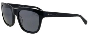 Kenneth Cole KC7201-01D-52 Square Women's Black Frame Grey Lens Sunglasses NWT