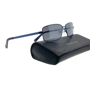 Kenneth Cole KC7212-90C-59 Rectangle Men's Blue Frame Grey Lens Sunglasses NWT