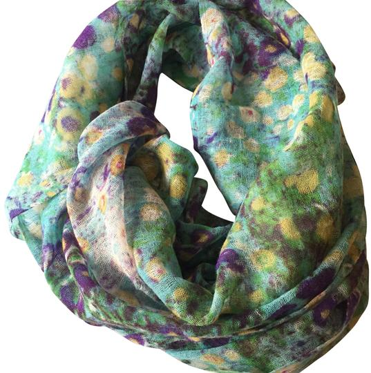 Preload https://img-static.tradesy.com/item/24590129/multi-teal-purple-white-pink-green-blue-yellow-floral-scarfwrap-0-1-540-540.jpg