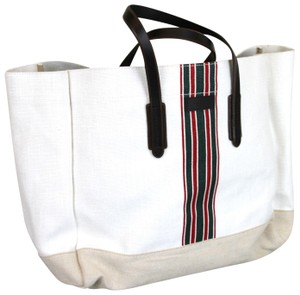 Gucci Large Wide Tote in White