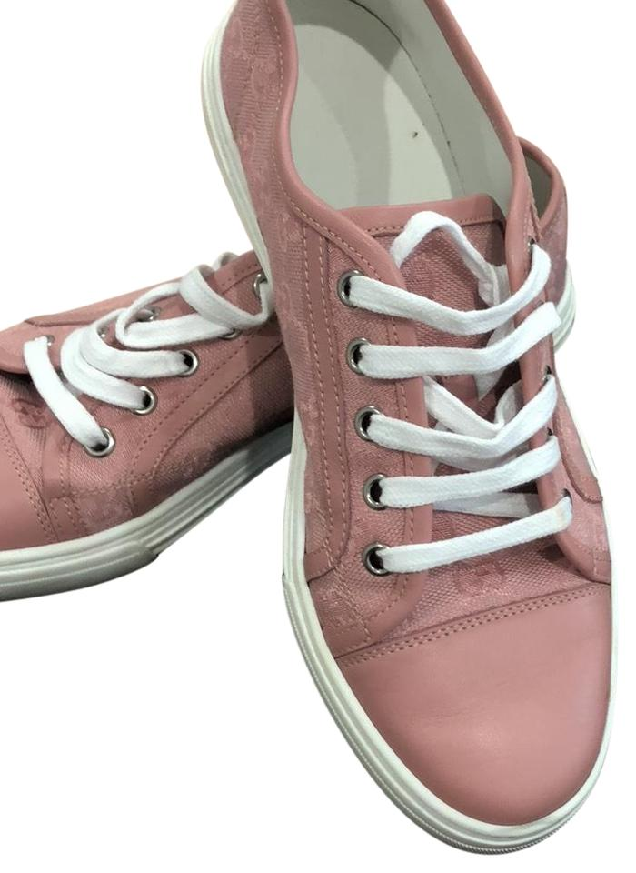 8c2caa57fda Gucci Pink Canvas Sneakers Sneakers. Size  EU 38 (Approx. US 8) ...