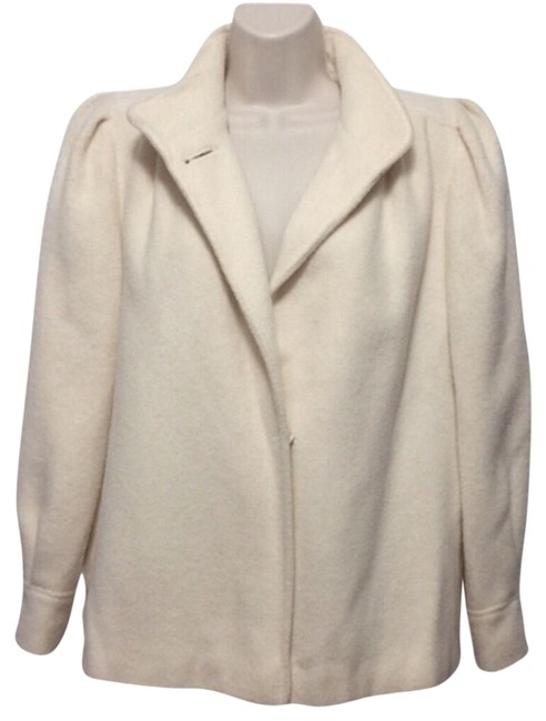 Item - Ivory Dress Short Coat Size 12 (L)