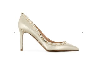 Valentino Rockstud Studded Stiletto Classic Pointed Toe platine Pumps