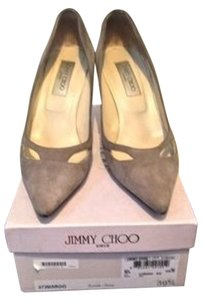Jimmy Choo Suede Margo Gray Grey Pumps