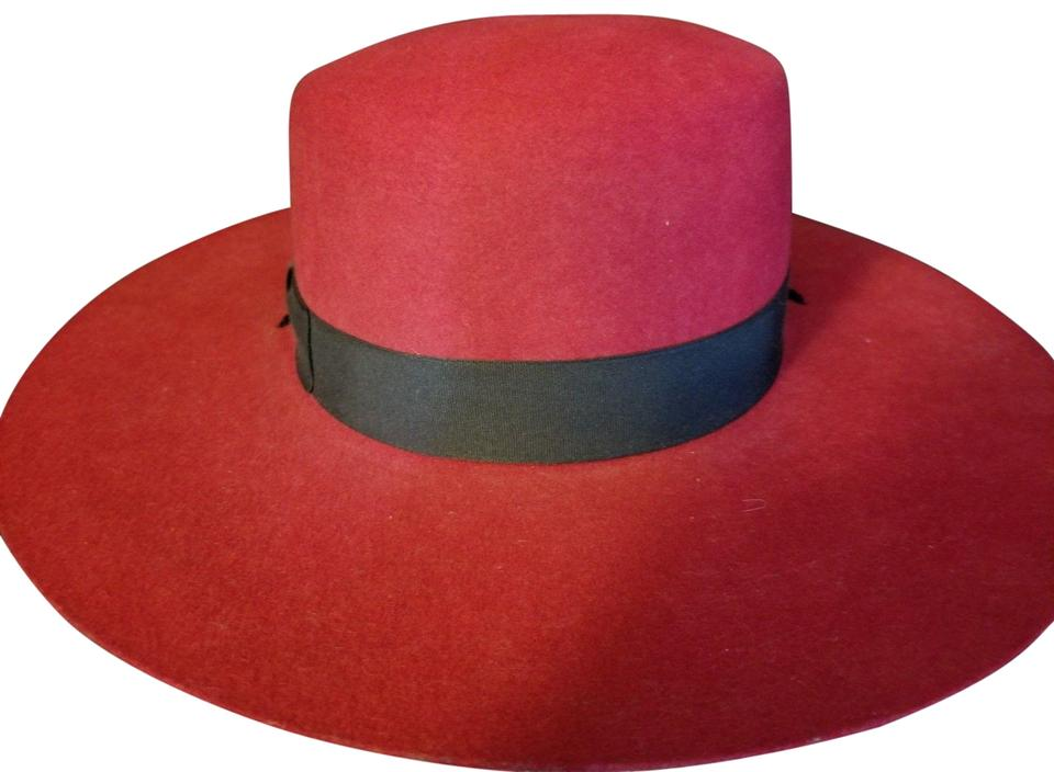 799542feaceeb Unbranded SOLD Vtg Spanish Bolero Red Wool Hat with Black Banding MINT  CONDITION Image 0 ...