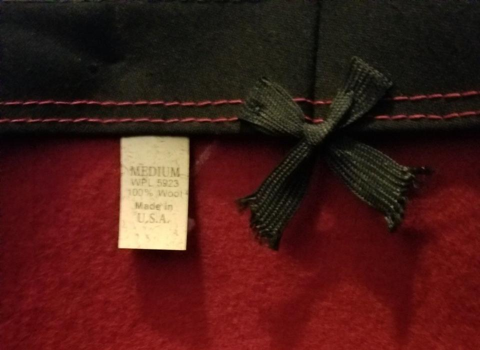 3162a2d12627e Red Sold Vtg Spanish Bolero Wool with Black Banding Mint Condition ...