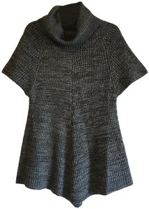 Nordstrom Woven Tunic Textured Knit Scoop Neck Sweater