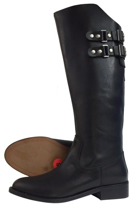 Andre Assous Black New Roma Tall Zip Leather Riding Boots/Booties Size US 6 Regular (M, B) Andre Assous Black New Roma Tall Zip Leather Riding Boots/Booties Size US 6 Regular (M, B) Image 1