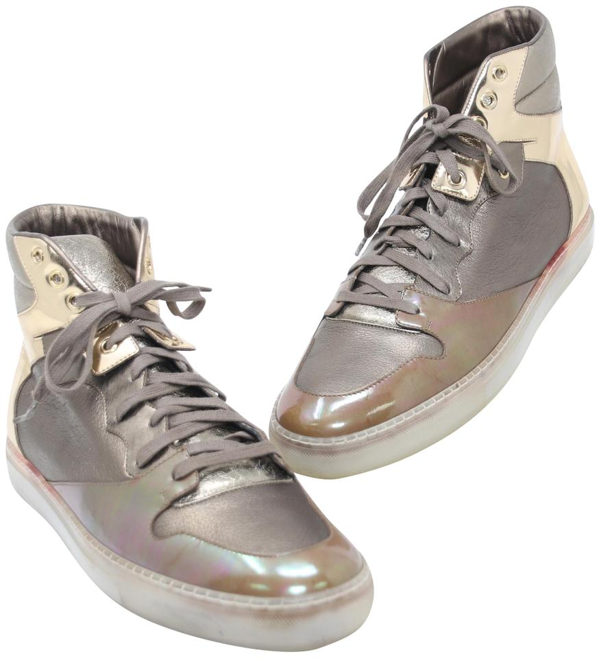 50b4475b9ae Balenciaga Bronze Gold Metallic Patent Crinkled Leather High-top Men's 45  Sneakers Size US 12 Regular (M, B) 71% off retail