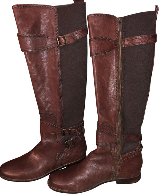 Frye Chocolate Anna Gore Tall-blfle Boots/Booties Size US 8 Regular (M, B) Frye Chocolate Anna Gore Tall-blfle Boots/Booties Size US 8 Regular (M, B) Image 1