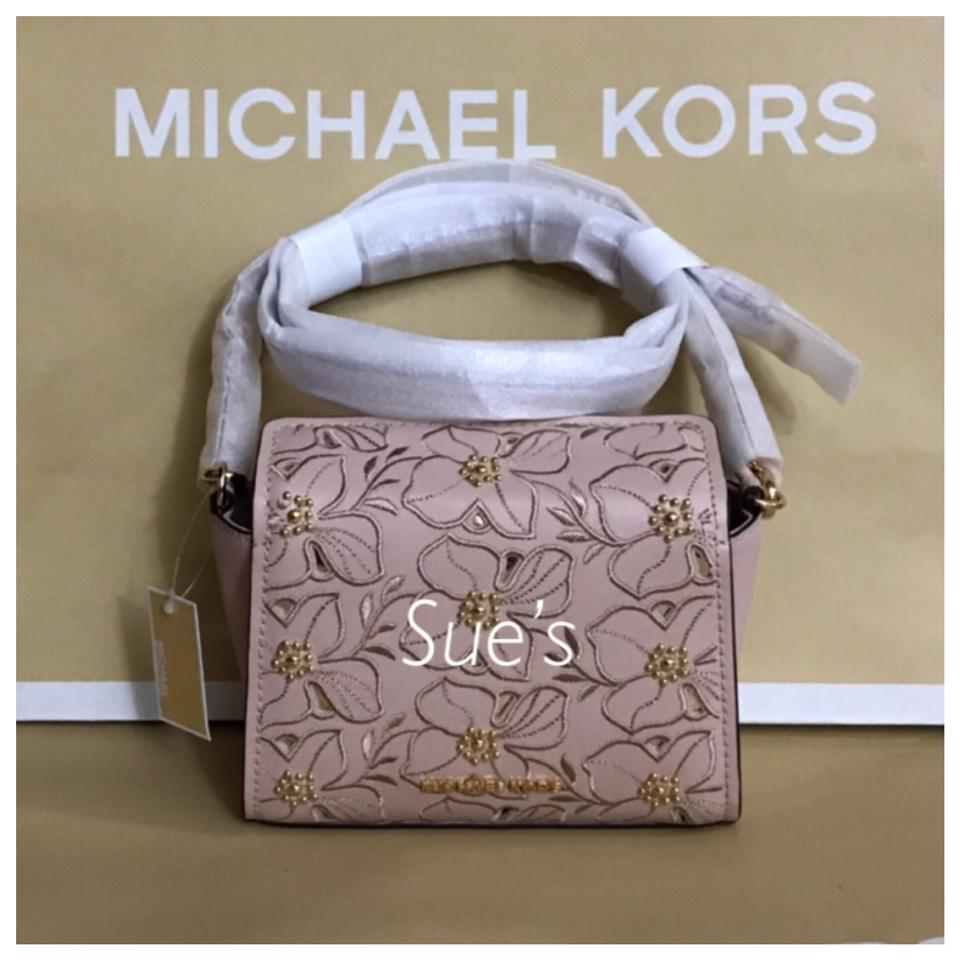 4f041a0af4fb Michael Kors Mk Sofia Small Leather - Ballet Cross Body Bag - Tradesy