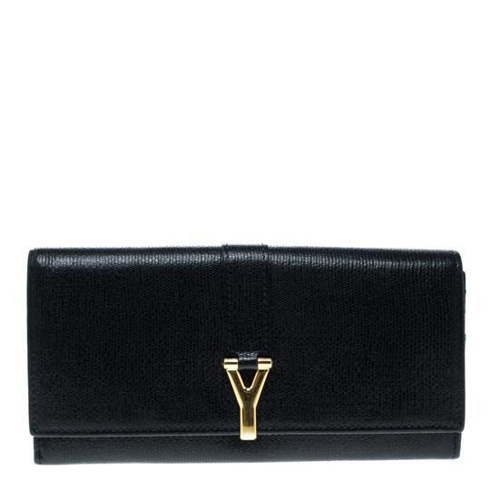 Preload https://img-static.tradesy.com/item/24591656/saint-laurent-black-leather-y-line-continental-wallet-watch-0-0-540-540.jpg