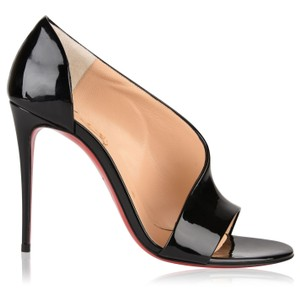 Christian Louboutin Sandals Asymmetric Phoebe Open Toe Black Pumps