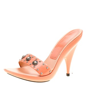 b6b56931f22a Casadei Patent Leather Studded Pink Mules