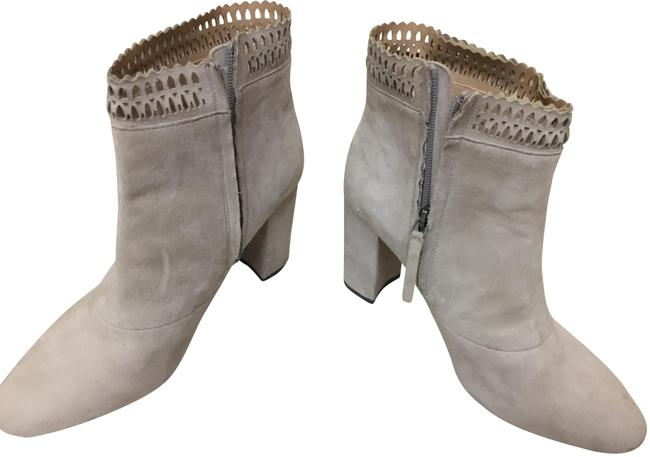 JOE'S Gray Offwhite Suede Boots/Booties Size US 10 Regular (M, B) JOE'S Gray Offwhite Suede Boots/Booties Size US 10 Regular (M, B) Image 1