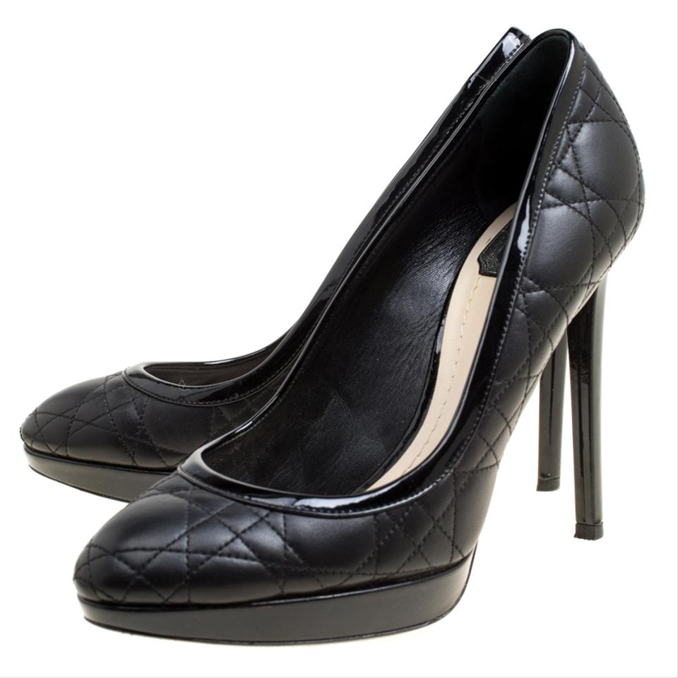 d5d18990dd Dior Black Quilted Cannage Leather Platform Pumps Size EU 39.5 (Approx. US  9.5) Regular (M, B) - Tradesy
