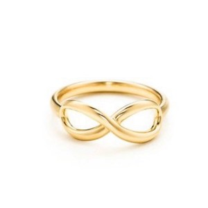 Tiffany & Co. Tiffany & Co Solid 18K Gold Infinity Ring Authentic New in Box, Size 5