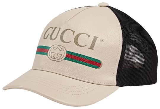 Preload https://img-static.tradesy.com/item/24592071/gucci-white-new-print-leather-baseball-vintage-logo-large-hat-0-1-540-540.jpg