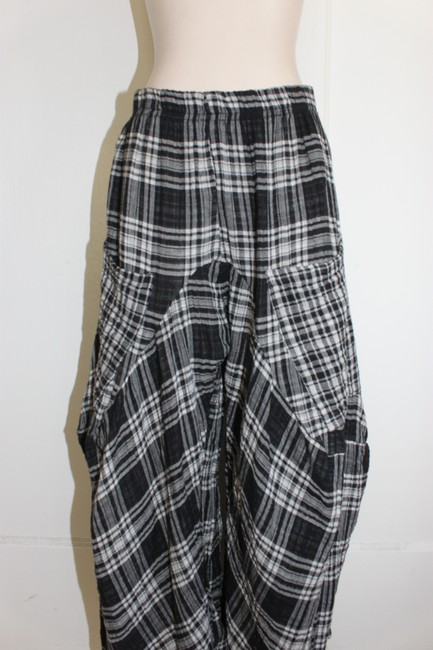 Dress To Kill Harem Plaid Westwood Open Ceremony Baggy Pants BLACK GRAY WHITE