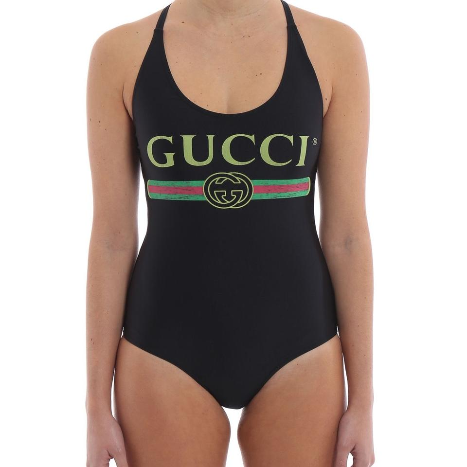 1d68f4c801e Gucci Black Lurex Swimsuit One-piece Bathing Suit Size 4 (S) - Tradesy