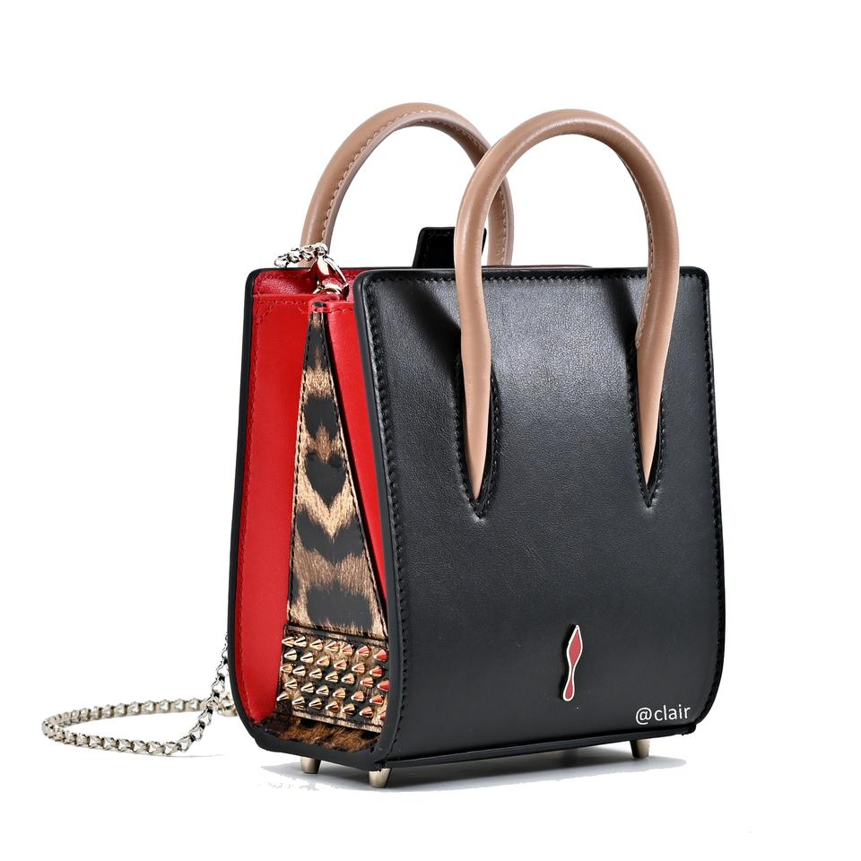 b35e1fa6117 Christian Louboutin Paloma Nano Black/Brown Leather Cross Body Bag 16% off  retail
