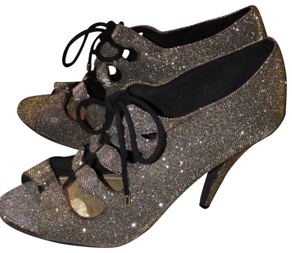 c774a4523cb Fioni Gold Silver Night Formal Shoes Size US 9 Regular (M