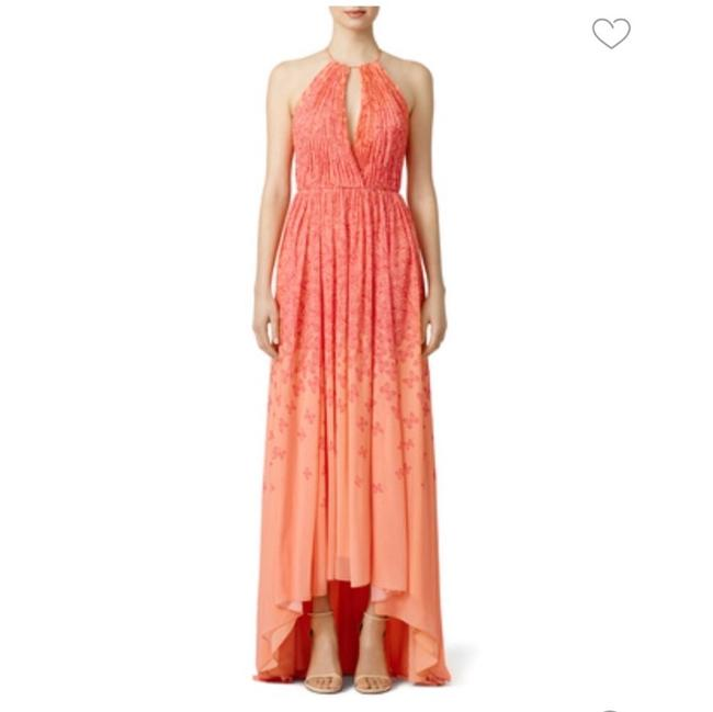 Item - Coral Falling Butterfly Long Casual Maxi Dress Size 2 (XS)