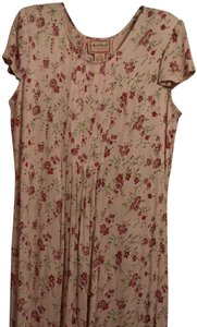 Pink red green Maxi Dress by April Cornell Floral Summer Classic Holiday Flowy