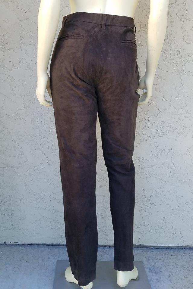 better sophisticated technologies uk store Polo Ralph Lauren Brown High Waisted Suede Leather Pants Size 10 (M, 31)