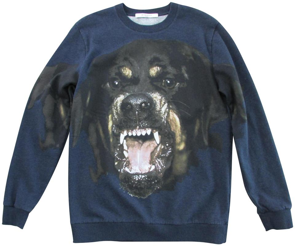 070795b2 Givenchy Blue Brown Rottweiler Graphic Print Sweatshirt/Hoodie Size ...