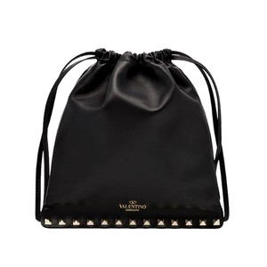 Valentino Studded Leather Black Clutch