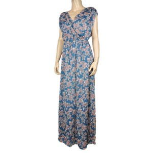 Blue Maxi Dress by Ro & De Boho Bohemian Maxi Floral