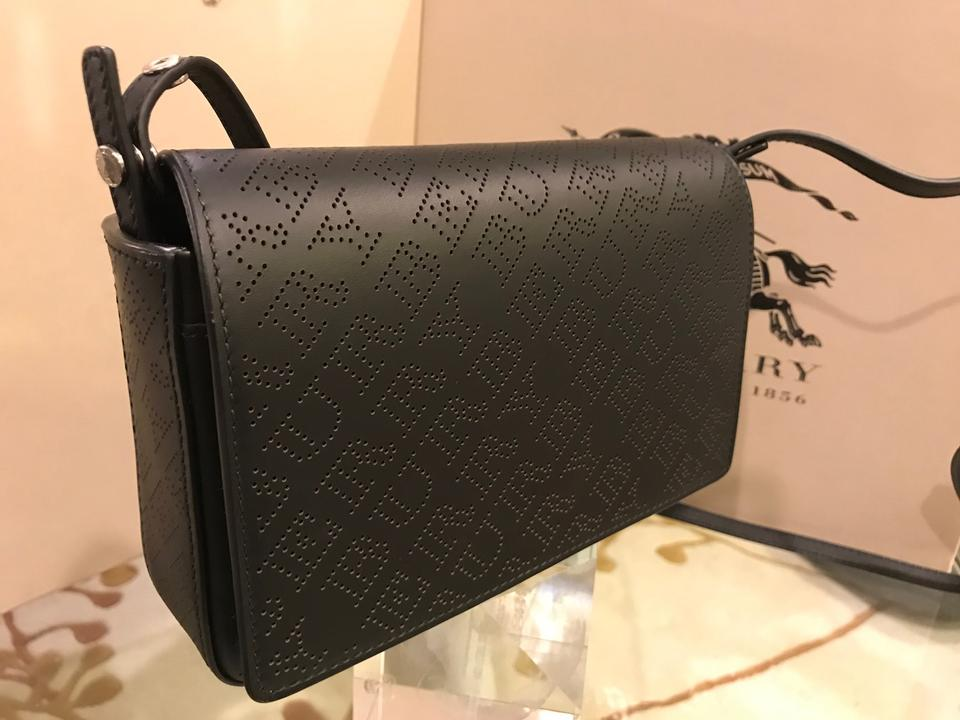 f80bc7a77db1 Burberry Hampshire Perforated Leather Detachable Strap Logo Cross Body Bag  Image 11. 123456789101112