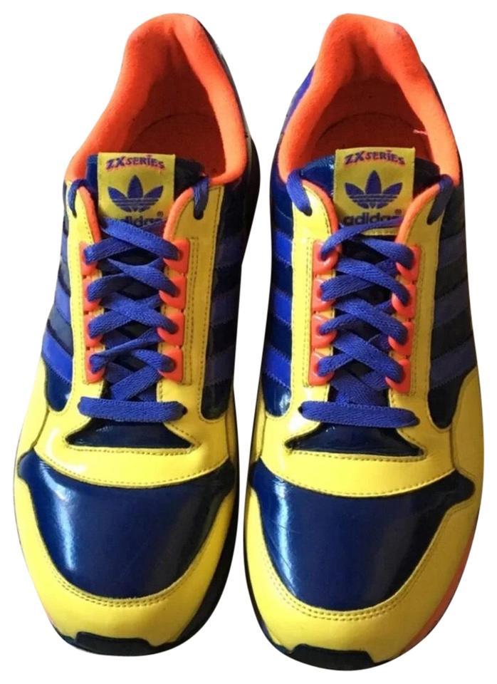 4924d30b9d84 adidas Blue Yellow Multi Colored Zx Series 500 Men s Sneakers Size ...