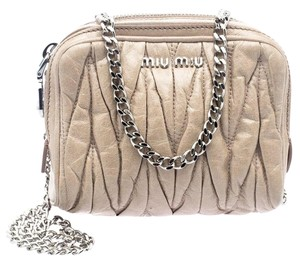 Miu Miu Matelasse Leather Fabric Shoulder Bag