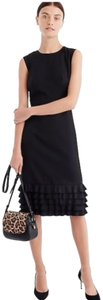 J.Crew Wool Career Ruffled Sleeveless Dress