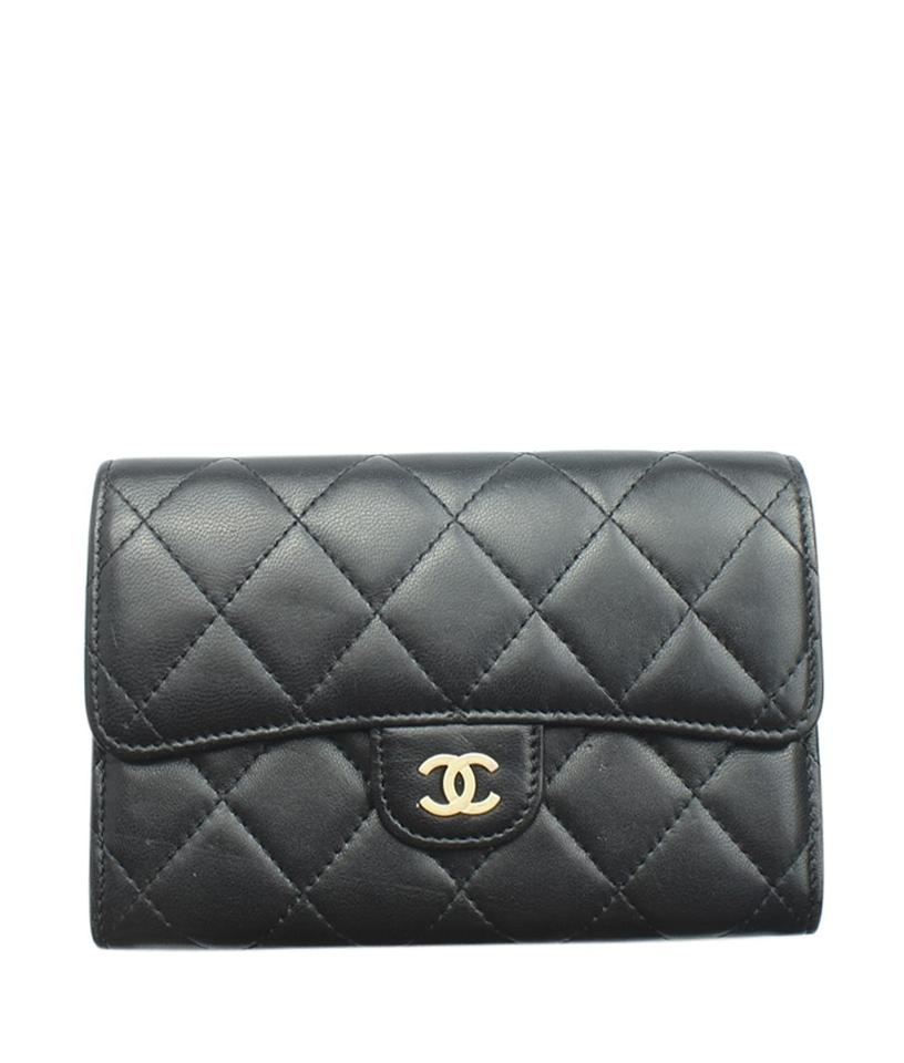 3e3a04d57ac8 Chanel Black Classic Flap Small Wallet - Tradesy