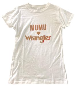 Show Me Your Mumu T Shirt White and Gold