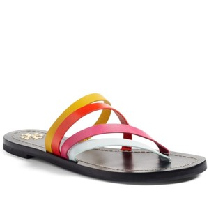 Tory Burch New Navy Blue & Pink Multi Sandals