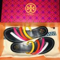 Tory Burch New Navy Blue & Pink Multi Patos Strappy Sandals Size US 6.5 Regular (M, B) Tory Burch New Navy Blue & Pink Multi Patos Strappy Sandals Size US 6.5 Regular (M, B) Image 3