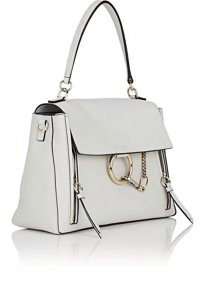 2871682e3e31 Chloé Faye Day Medium Double Carry Airy Grey Smooth   Suede Calfskin Shoulder  Bag