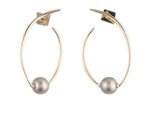 Alexis Bittar Gold and pearl earrings