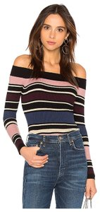 cupcakes and cashmere Cupcakesandcashmere Offtheshoulder Metallic Sweater