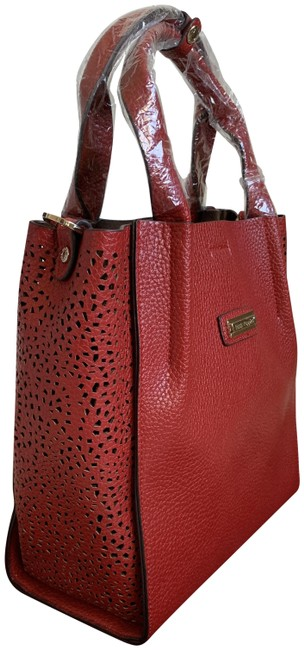 Item - Bucket Bag Side Cut Out with Detachable Inner Red Leather Satchel