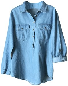 Charlotte Russe New With Tags Pullover Style Pockets Longsleeve Cotton Tunic