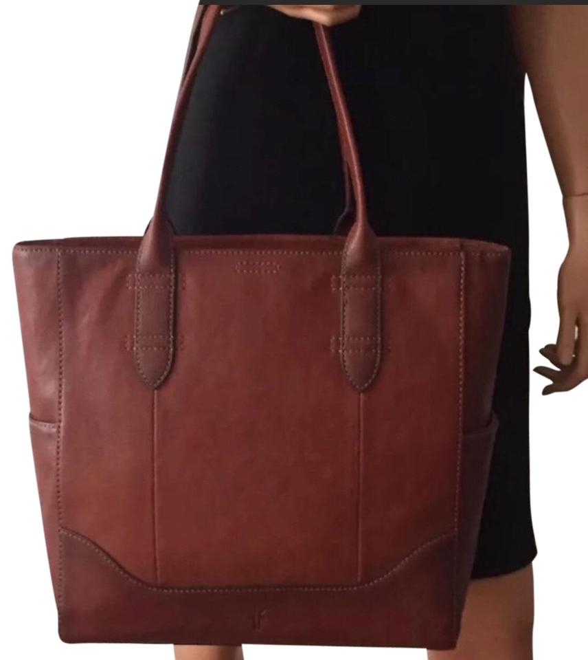 3f1865a1130 Frye Zip Top Ns North South Leather Tote in Brown Cognac Image 0 ...