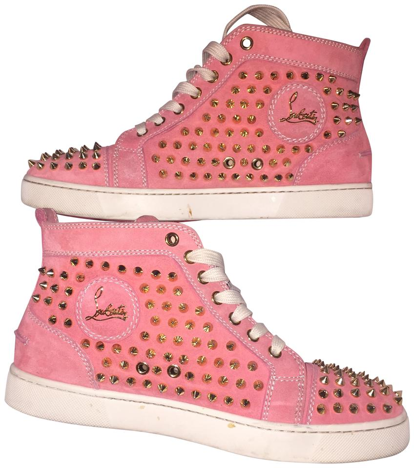 newest 51c3d 4742c Pink Spiked Sneakers