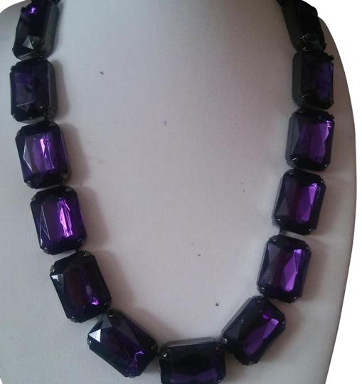 Preload https://img-static.tradesy.com/item/24594225/joan-rivers-dark-amnethyst-color-or-purple-chunky-statement-necklacechoker-necklace-0-3-540-540.jpg