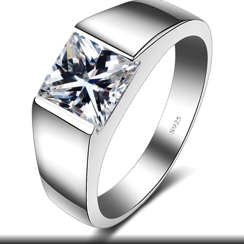 High Polish Sterling Silver Men S Luxury Wedding Band For Men 4ct
